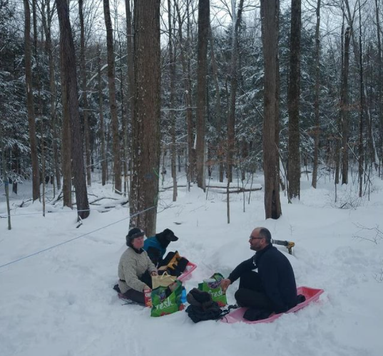 snow drift picnic